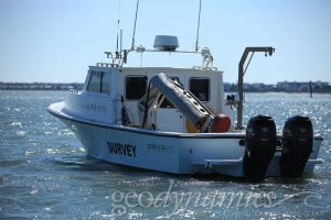 Image of a survey boat in the water