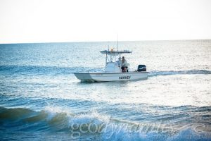 Image of survey boat in the water