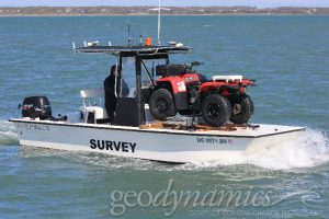 Image of an atv on a boat