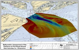 Image of a 3d bathymetric survey of the port royal sound.