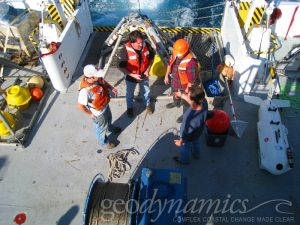 surveyors on research vessel