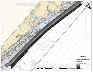 geophysical survey offshore of Topsail Island