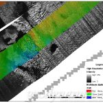 multibeam data overlayed on sidescan data