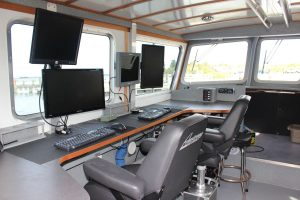 interior photo of survey vessel