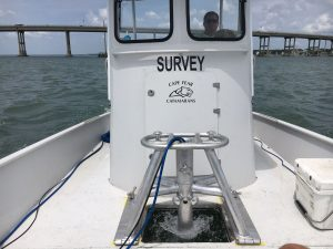 multibeam deployed on vessel