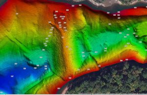 multibeam map of weir