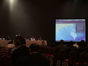 Hydrographic presentation at conference