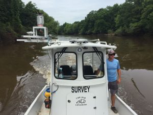survey vessel collecting mobile laser scan