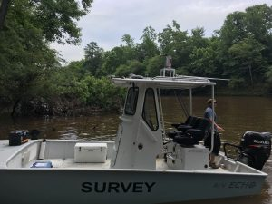survey vessel with mobile laser scanner