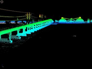 3D laser scan of bridge and factory