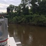 Riegl laser scanner on vessel imaging streambank
