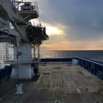 View of the vessel deck