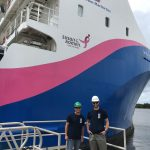 survey crew on research vessel