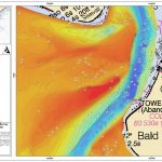 hydrographic map of inlet channel depths